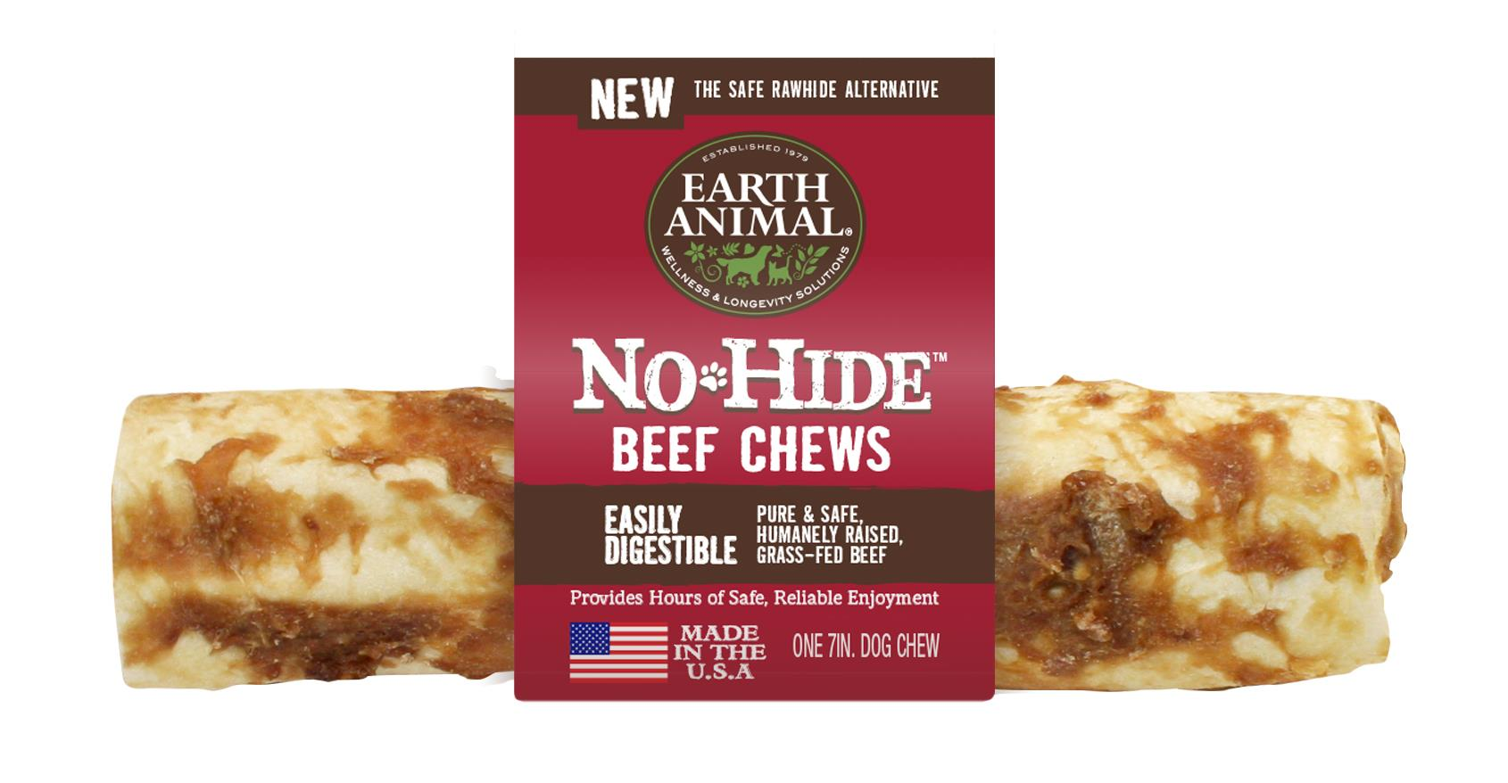 "Earth Animal No-Hide Beef 7"" Chew (Dogs 45 - 75 lbs.)"
